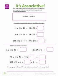 Properties of Multiplication: Associative | Worksheet | Education.comThird Grade Multiplication Worksheets: Properties of Multiplication: Associative