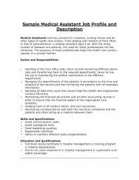 medical assistant job description resume   best resume gallerymedical assistant job description sample  office receptionist job description