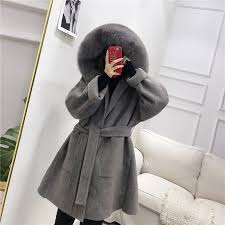 OFTBUY 2019 <b>Real</b> Fur Coat <b>Winter</b> Jacket Women Natural <b>Fox Fur</b> ...