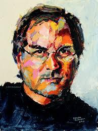gallery derek russell oil painting of steve jobs
