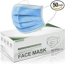 Hotodeal <b>50 Pcs</b> Disposable <b>Face Masks</b>, Breathable <b>Face Mask 3</b> ...