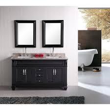 55 inch double sink bathroom vanity: solid wood double sink vanity bellacor