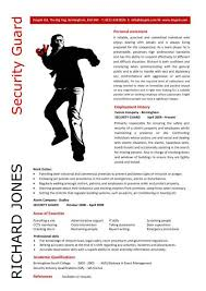 security guard resume cover letter