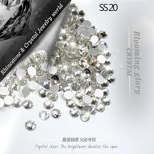 QIAO SS20(4.8 5.0mm) <b>Crystal Clear 1440pcs</b>/<b>pack</b> 3D Non hotfix ...