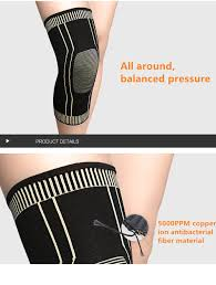 Buy <b>Copper Fiber Compression</b> Knee Support Copper Knee Brace ...