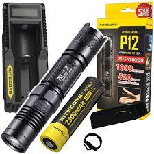 NITECORE P12 1000 Lumens <b>CREE LED tactical flashlight</b> with ...