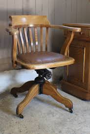 vintage oak 1930s adjustable desk office chair antique oak office chair