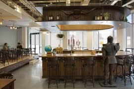 airbnb pub like reception area in dublin office best office reception areas