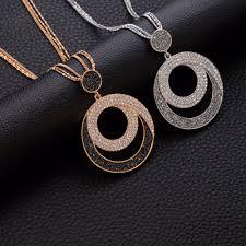 <b>Vintage Woman</b> Statement Necklace Geometric <b>Big</b> Circle <b>Crystal</b> ...