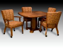 casual dining chairs with casters: this casual dining set by im david is made in the usa using the finest materials in the industry today the  chair on casters is extremely comfortable