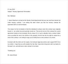 tenancy agreement termination letter tenant lease termination letter