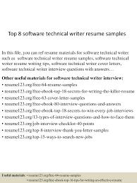 topsoftwaretechnicalwriterresumesamples lva app thumbnail jpg cb