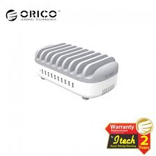 <b>ORICO DUK</b>-<b>10P</b> 120Watt <b>10</b> Ports USB Charging Station with Stands