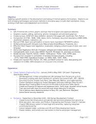 example resume for software tester software engineer resume template example