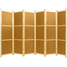 Espresso/Light Brown Handcrafted 5.9 ft <b>4-Panel</b> Folding <b>Room</b> ...