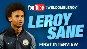 leroy sane s first interview at manchester city video