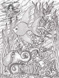 Small Picture Free Challenging Under the Sea Coloring Pages for Adults Enjoy