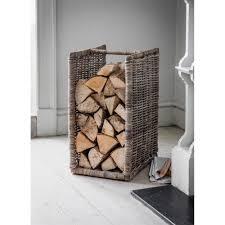 Garden Trading Kitchen Bin Garden Trading Bembridge Log Holder Rattan Black By Design