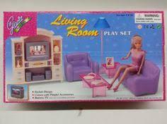 amazoncom barbie size dollhouse furniture living room with tvdvd set amazoncom barbie size dollhouse