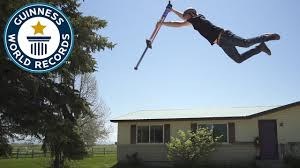 Highest Jump on a <b>pogo stick</b> - Meet the Record Breakers - YouTube