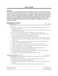 resume in english for s manager