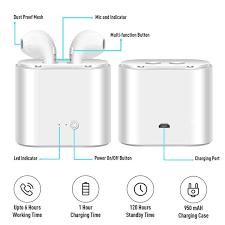 New Upgrade System <b>TWS I7 TWS I7</b> MINI Dual Wireless Bluetooth ...