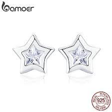 BAMOER <b>New Arrival 925 Sterling</b> Silver Sparkling Star Cubic ...