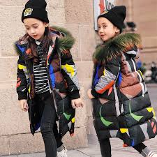 HSSCZL <b>Girls</b> duck down jackets <b>2019</b> new big <b>girl</b> long jacket ...