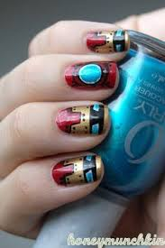 iron man nail art nerdy nail designs 30 awesome manis for geek desses