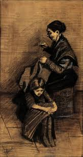 best images about vincent van gogh sepia zwart wit vincent van gogh w sewing a girl 1883