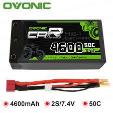 <b>2 Packs OVONIC</b> RC Car Batteries 6200mAh 5200mAh 5000mAh ...