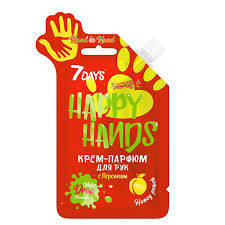 <b>Крем</b>-<b>парфюм</b> для рук <b>7DAYS</b> с персиком Hand in hand happy hands