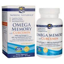 Nordic Naturals <b>Omega Memory with Curcumin</b> Softgels, 1000 mg ...