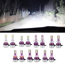 1 Pair <b>C6 Car LED Headlight</b> H1 H3 H4 H7 H11 9005 9006 Head ...