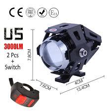 <b>1 pair 125W Motorcycle</b> Headlight Motorbike spotlight 3000LM ...