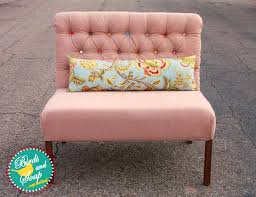 tufted dining bench with back  pink upholstered dining bench with colorful button tufted back and floral accent pillow