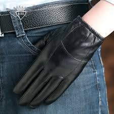 <b>KLSS Brand Genuine Leather</b> Men Gloves High Quality Goatskin ...