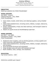 hotel  amp  hospitality resumes   the resume template sitehotel housekeeper resume