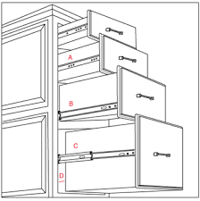 slide rail cm kitchen cabinet slides
