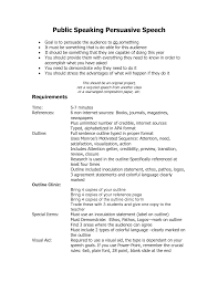 outline for a persuasive speech info college persuasive speeches