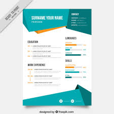 cv template vectors photos and psd files abstract curriculum template