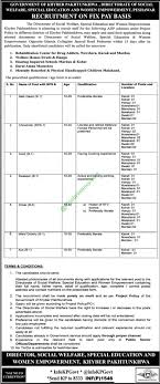 kpk jobs directorate of social welfare special education women kpk jobs directorate of social welfare special education women empowerment 2017