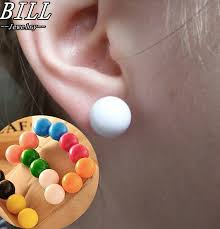 top 9 most popular <b>fluorescence candy colored</b> frosted ball earring ...