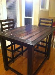 table bar height chairs diy: diy counter height rustic table counter height rustic table diy counter height rustic table