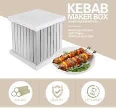 64 Holes <b>BBQ Skewers Kebab</b> Maker Box <b>Barbecue</b> Tool <b>Kebab</b> ...
