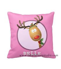 <b>Cute Reindeer</b> Cushion (<b>Girl</b>) | Label of Love Studio