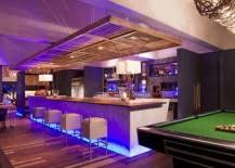 home bar with pool table attempts to recreate a pub atmosphere basement bar lighting ideas