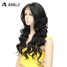 <b>Noble Hair Lace Front</b> Wig 24 inch Long wavy Black african ...