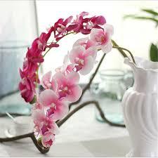 <b>NieNie 10 Heads 72cm</b> artificial flower Phalaenopsis latex silicon ...