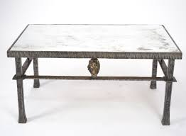 Iron Coffee Tables Vintage Forged Iron Bronze Coffee Table Jean Marc Fray